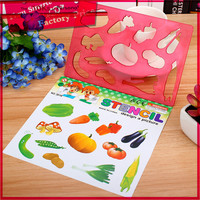 china school stationery Made in China design a picture vegetable and car stencil pattern drawing ruler