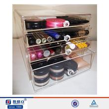 4 drawer glamour makeup box,foundation blending sponge and brush holder set