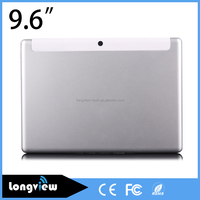 9.6inch 3g tablet pc 2 sim card MTK6582 quad core 3g phone 1280X800 IPS screen metal back cover
