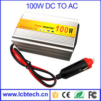 High efficient 100w dc to ac power inverter Low voltage alarm/protection with CE