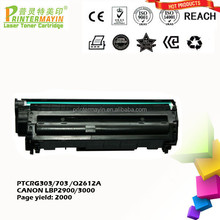 Wholesale Toner Cartridge 103 303 703 for Canon Compatible Laser Toner Cartridge China Supplier (PTCRG303/703/Q2612A)