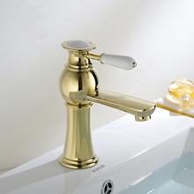 Levier unique plaqué or électrolytique bassin robinet / robinet de bassin électrolytique / robinet bassin électrolytique