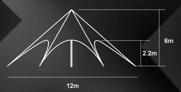 star tent measurement 12m a