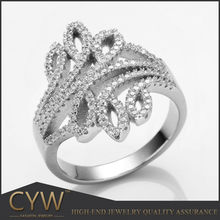 CYW list of manufacturing company unique Fashion 925 Sterling Silver lady Ring