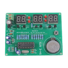 DIY 6 Digital LED Electronic Clock Kit 9V-12V AT89C2051