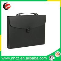 Black A4 Waterproof Document Expanding Bag