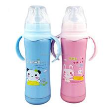 Food Grade 180ml/240ml Colorful Stainless Steel Baby Feeding Bottle