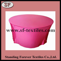 2015 Hot Sale luxury spandex satin table cover western style tablecloth