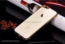 Import mobile phone accessories metal bumper back case frame cover for iphone 4