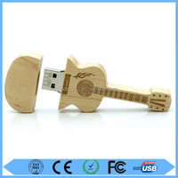 Promotional Wooden USB flash drive in Guitar shape