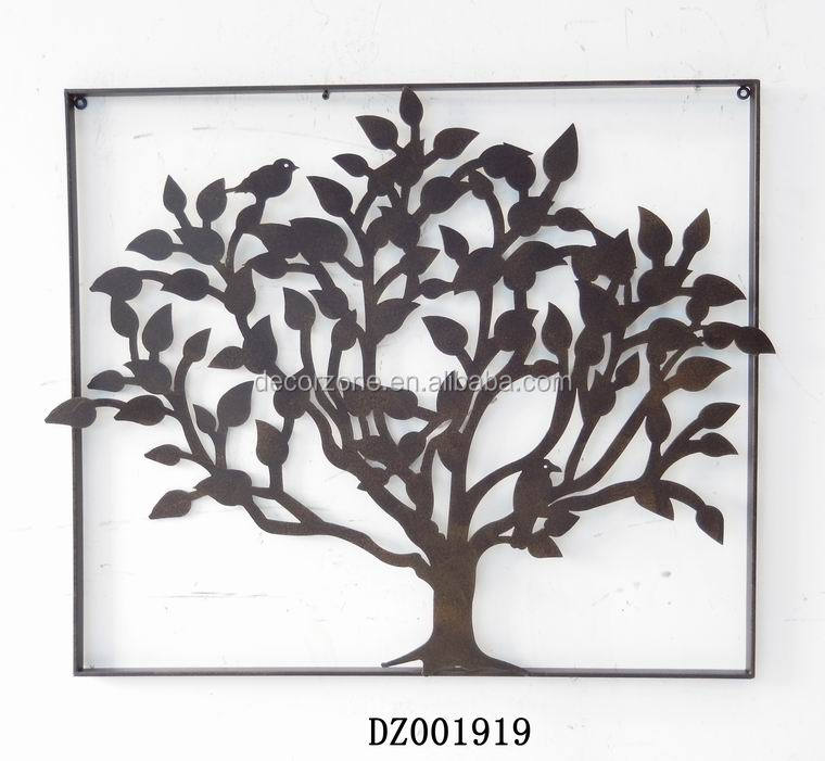 Antique chinese decorative tree metal wall plaque buy for Plaque murale decorative metal