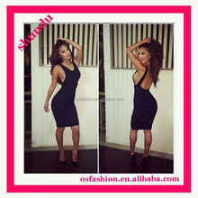 Best Selling sheath 2 piece sexy dresses 2015 new arrival