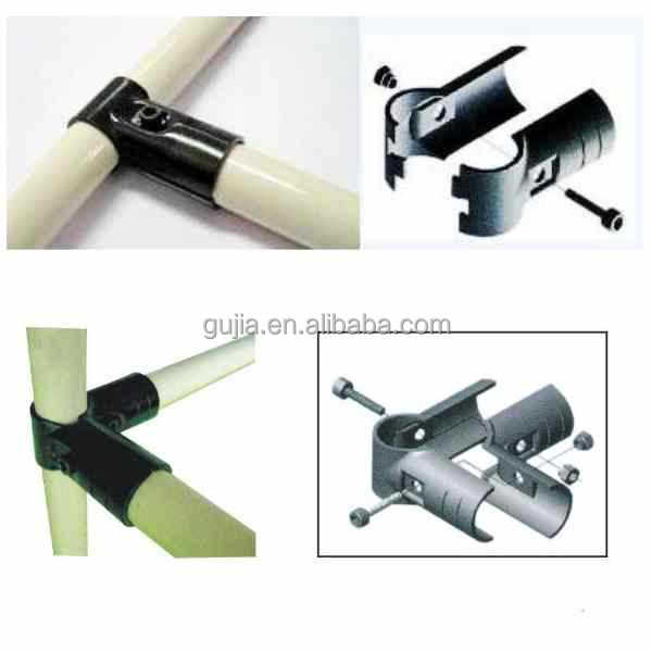 Plastic coated pipe tube metal joint clamp connector buy