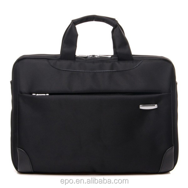 Custom black polyester business laptop bag fashionable laptop bag