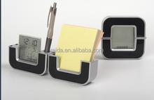 foidable clock business gift digital name card pen holder desk clock