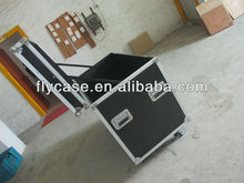 with lighting stage and casters aluminum flight case