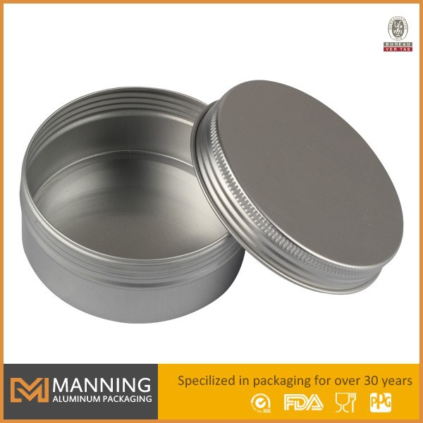 Aluminum small tin container wholesale candle tin metal for Small tin containers