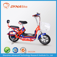 lightweight 48v 20ah adults electric motorbike with 2 seats directly from DYNABike factory