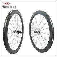 FSC50CM-23U-2016 farsports 50mm carbon wheels clincher 23mm wide road carbon wheelset 20/24H spoke holes