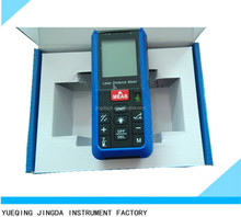 Measure Area Volume Pythagoras 80M Range Finder +/-1.5mm Accuracy Meter Feet Inches Units Digital Laser meter bubble level