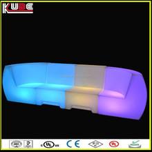China fashional LED plastic light sofa for nightclub