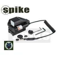 Spike tactical Red and Green Dot Reflex Sight red dot scope With Red dot Laser sight and 20mm rat tail line for rifle air guns