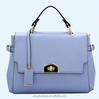 Genuine leather plain-dyed Tote bag, candy color fashion ladies handbags with high quality