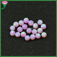 OP10 diy jewelry mexican pink synthetic 4mm round fire opal beads gemstone