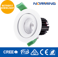 indoor led downlight luminaire Traic dimming 3 4 inch aperture with 15 24 36 60 lighting spread
