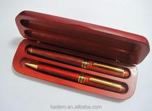 2 pcs wooden ball pen and roller pen,wooden pen set