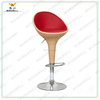 WorkWell rattan pu cover leisure swivel Bar Stools with hight back comfortable funky design (Kw-B2002b)