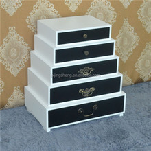 High gloss living room drawers chest, wooden display cabinet table, drawer cabinet