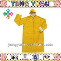yellow rubber winter workwear raincoat