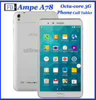 Wholesale Ampe A78 3G 7inch Tablet PC Qualcomm 1.2GHz TWO Camera GSM Phone Call GPS WiFi Bluetooth OTG