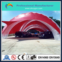 outdooor big inflatable car cover tent/inflatable tent for car garage
