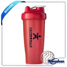 Wen shan plastic Blender protein Shake water bottle