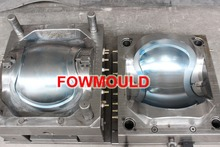 plastic round Dustbin cover injection mould