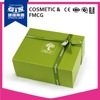 Customized cosmetic gift box packaging with ribbon