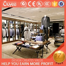 Luxury man clothes shop design/ unique design of garment display from Guangzhou