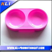 Dog food/ water bowls plastic double pet bowls