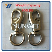OEM Stainless Steel Heavy Duty Weaver Leather White Cotton Lead Rope with Nickel Plated Bull Snap