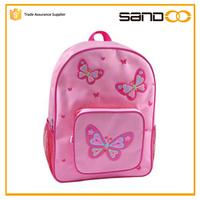 2016 cute girl butterfly school bag