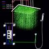 Bath shower set Led overhead 500*500mm shower set with message spa body jet bath shower set