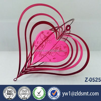 heart shaped hanging wind chime type decoration Valentine's Day gift