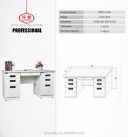 2015 Hot Selling Office Furniture Wooden Desktop Anti Rusty Anti Fire Stainless Steel Office Desk