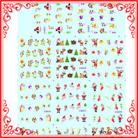 S06 Christmas Floral Water Transfer 11 Design Set Gel Nail Stickers Decals Adhesive