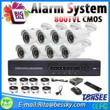 16ch ahd 720p mobile view 4ch alarm in 1ch alarm out 800tvl 8ch dvr cameras kit for home security system