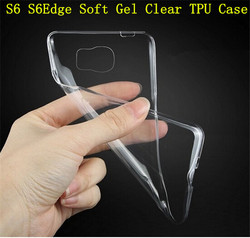 S6 Edge Ultra Thin Pure Transparent Case Soft Gel Crystal TPU Phone Cover For Samsung Galaxy S6 G9200 Clear Protective Shell