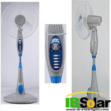 16'' long usage time rechargeable fan with LED light and SONCAP certificate IB-FN-011
