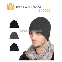 Men Baggy Knit Beanie Hat ,Mens Knitted Winter Caps, Plain Skull Cap